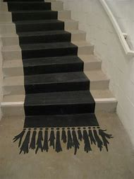 Painted Stairs with Carpet Runner