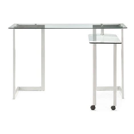 mouse for glass desk dreamfurniture com thrower desk clear glass