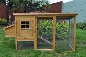 Wooden Chicken Coop Poultry House Hen Ark  U0026 Run