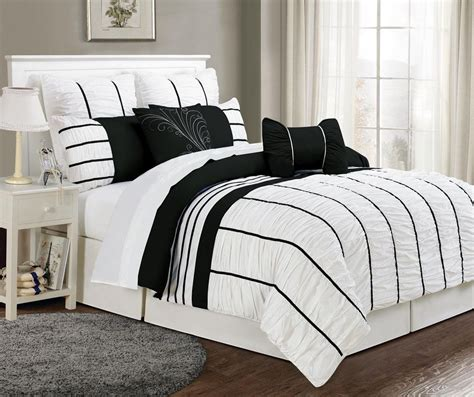 Black And White Bedding Sets by 8 Villa Black And White Comforter Set Black