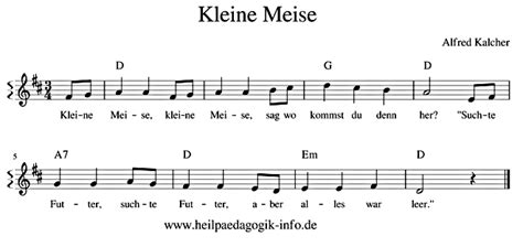 kleine meise text noten