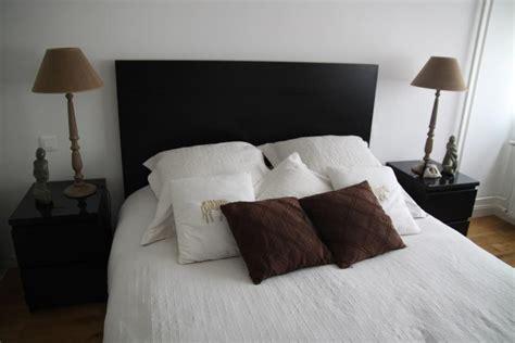 deco chambre lit noir deco photo noir et marron sur deco fr