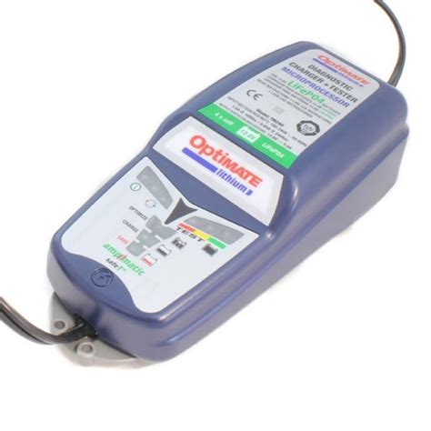 chargeur de batteries optimate lithium 12v lifep04 pam racing