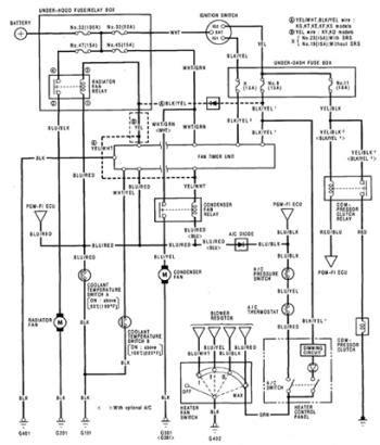 honda prelude air conditioner electrical circuit