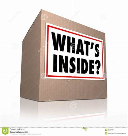Box Inside Clipart Mystery Contents Carton Whats