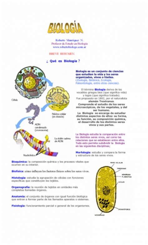 documento breve resumen 191 que es la biologia grupos