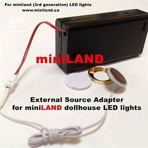 External Source Adapter Kit For Led Lights Dollhouse