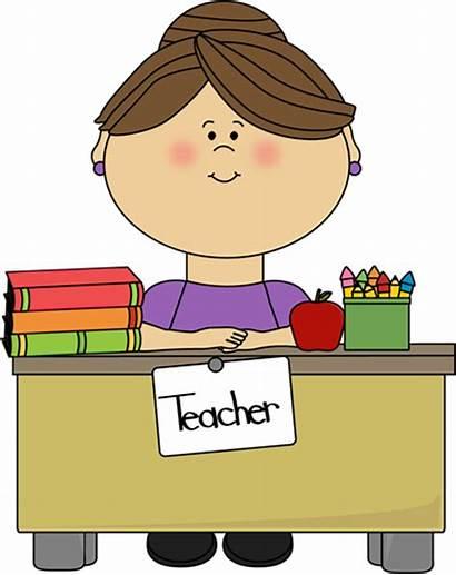 Spelling Teacher Desk Teachers Sitting Could Teaching
