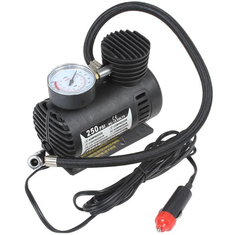Portable 12v 90w 250psi Electric Car Tire Tyre Inflator