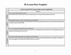 29 images of unit plan template 5e s teacher infovianet With 5 e model lesson plan template