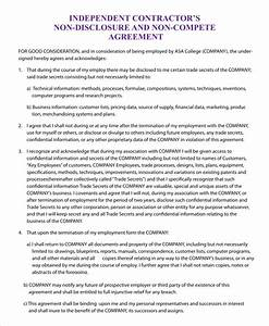 non compete agreement template 9 free sample example With business templates noncompete agreement