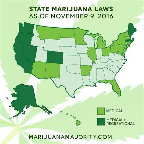map legalized marijuana states