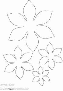 Flower template on pinterest for Free flower templates