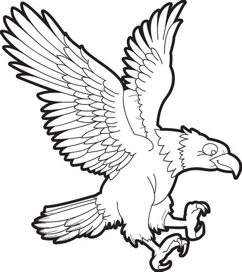 Coloring Eagle by Free Printable Bald Eagle Coloring Page For 1 Supplyme