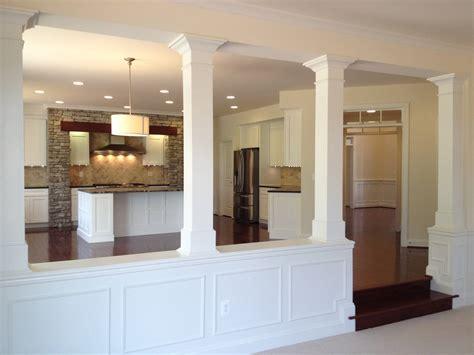 half wall ideas affordable half wall with column and basement columns design ideas for baseme x