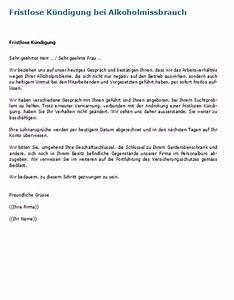 Gründe Für Fristlose Kündigung Mieter : fristlose k ndigung wegen alkohol muster und tipps f r ~ Lizthompson.info Haus und Dekorationen
