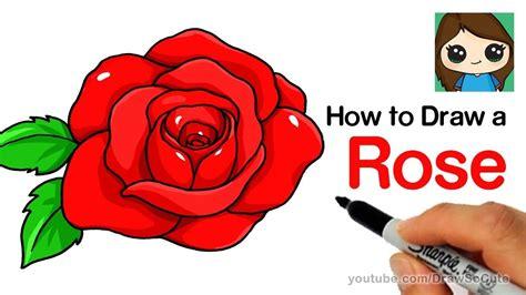 draw  rose step  step easy rose step  step