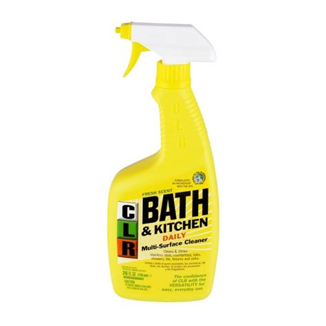 clr bath kitchen foaming action cleaner fresh scent from