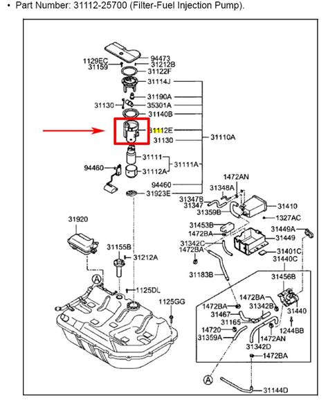 i can not find a fuel filter on my hyundai accent 2004 remove plate rear seat that led