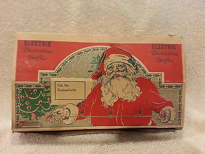 box   antique vintage  ge christmas tree light bulbs