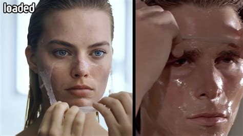 Margot Robbie Christian Bale American Psycho Shot For
