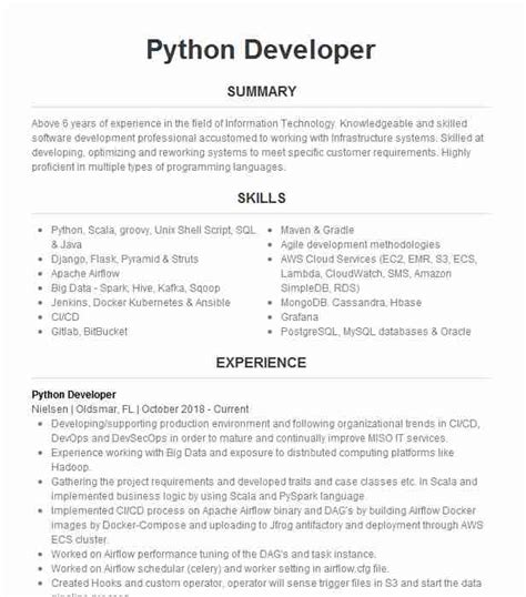 pythondjango developer resume  acadia technologies