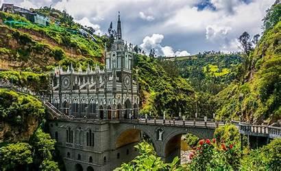 Colombia America South Castle Landscape Nature Bridge