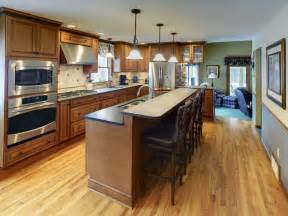 one wall kitchen with island designs kitchen island design ideas photos and descriptions