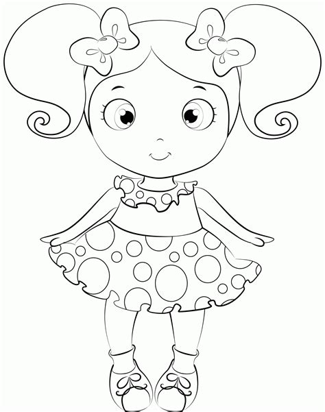 printable baby doll coloring pages coloring home