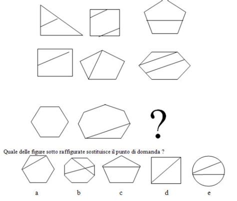 Test Logica Figure test e quiz logica test delle serie 16 figurali