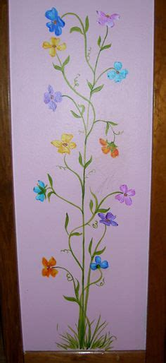 si鑒e mural subtle growth chart flower mural