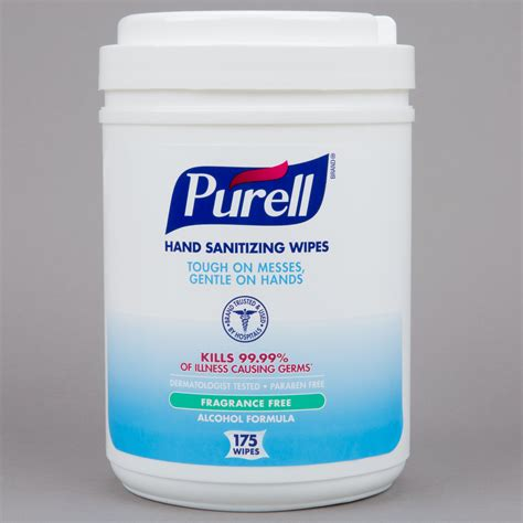 Purell® 9031-06 Alcohol Formulation Sanitizing Wipes 175