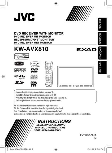 jvc kw avxe avx  instructions user manual lvt