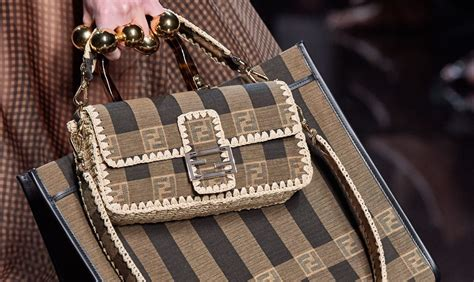 fendi spring  runway bag collection featuring  printed baguette spotted fashion