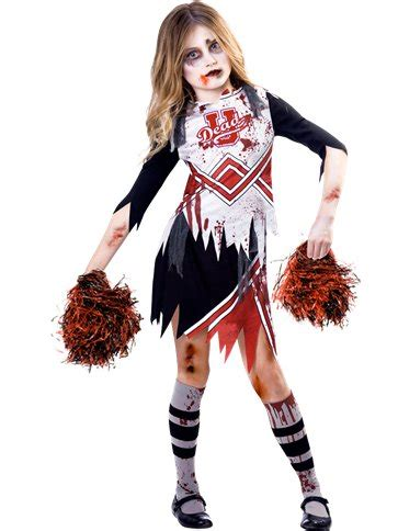zombie cheerleader girl child costume party delights