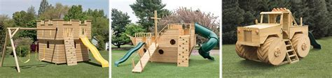 Ship, Castle, and Truck Wooden Playsets   Green Acres