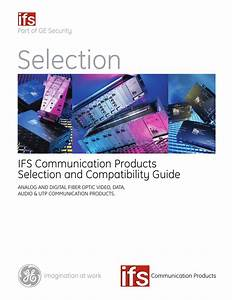 Ifs Communication Products Selection And Compatibility