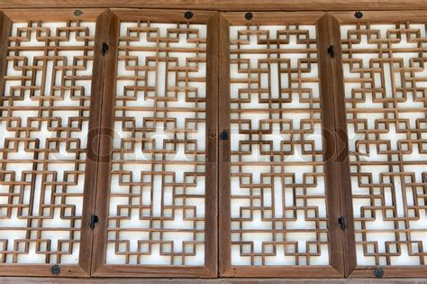 background pattern   traditional wooden paper door