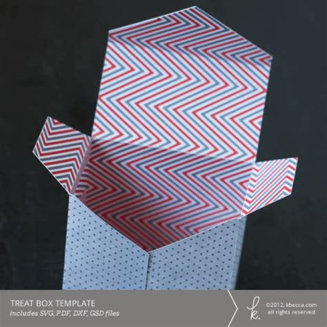 treat favor box template envelope flap treat box template svg file included