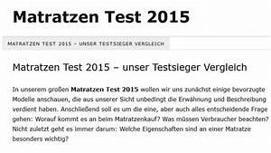 Matratzen Im Test 2015 : nachrichten die klow nde der medien der schreibende ~ Bigdaddyawards.com Haus und Dekorationen