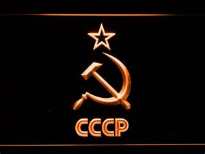 Hammer and Sickle Star CCCP LED Neon Sign