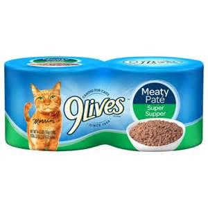 9 lives cat food 9 lives supper 5 5 oz cat food 4 pk walmart