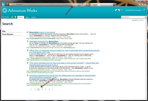 Nocode Adding Ajax To Search Results Paging In Sharepoint 2010  Waldek Mastykarz