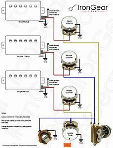 Les Paul Pickup Wiring Diagram Two Volume 3