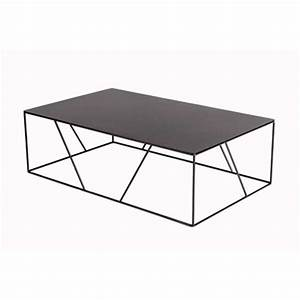 Table Basse Noire Design : table basse vidame noir mat vidame cr ation absolument design ~ Teatrodelosmanantiales.com Idées de Décoration