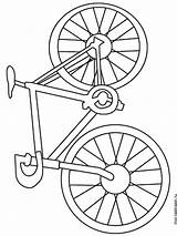 Coloring Bicycle Printable Mycoloring sketch template