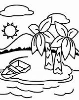 Coloring Island Pages Deserted Crayola Printable Print sketch template