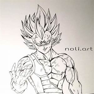 Majin Vegeta drawing | Vegeta is so FREAKING AWESOME ...
