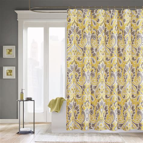 Bathroom Ideas Yellow And Gray Shower Curtains Coral Grey