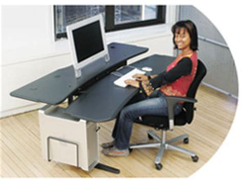 Biomorph Level 3 Desk by Level3 Plus Pacs Radiology Table With Motorized Sitting To